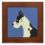 Great Dane Profile Framed Tile