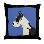 Great Dane Profile Throw Pillow