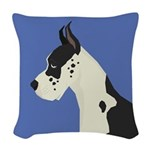 Great Dane Profile Woven Throw Pillow