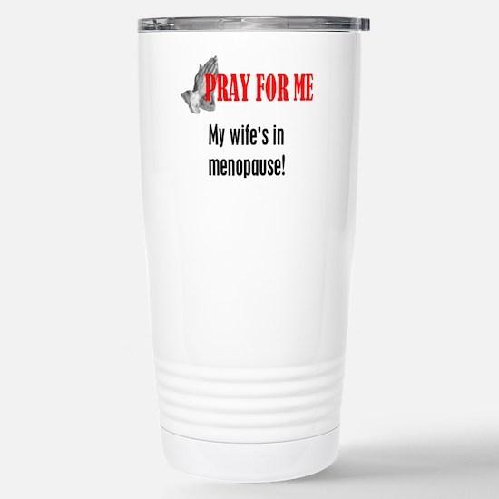Wife in Menopause Stainless Steel Travel Mug