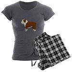 English Bulldog Women's Charcoal Pajamas