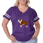 English Bulldog Women's Plus Size Football T-Shirt