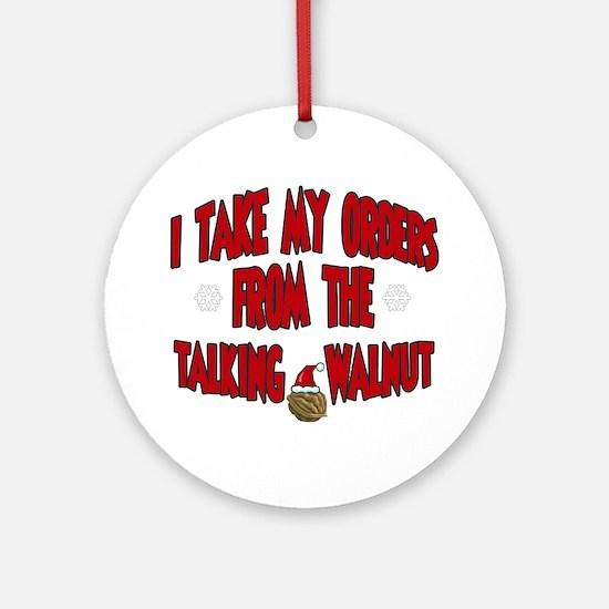 Talking Walnut Ornament (Round)