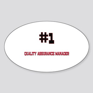 Number 1 QUALITY ASSURANCE MANAGER Oval Sticker