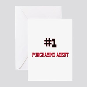 Number 1 PURCHASING AGENT Greeting Cards (Pk of 10