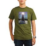 Christmas Star Organic Men's T-Shirt (dark)