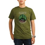 Xmas Peas on Earth Organic Men's T-Shirt (dark)