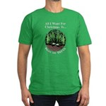 Xmas Peas on Earth Men's Fitted T-Shirt (dark)