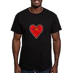 Crazy in Love Men's Fitted T-Shirt (dark)