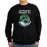 Valentine's Whirled Peas Sweatshirt (dark)