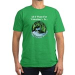 Valentine's Whirled Peas Men's Fitted T-Shirt (dar
