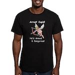 Arrest Cupid Men's Fitted T-Shirt (dark)