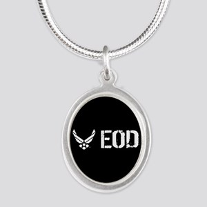 USAF: EOD Silver Oval Necklace