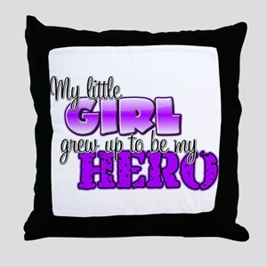 My little girl grew up to be Throw Pillow