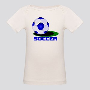 Soccer Ball Blue Organic Baby T-Shirt