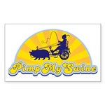 Pimp My Swine Rectangle Sticker 10 pk)
