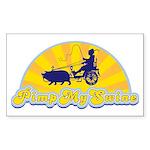 Pimp My Swine Rectangle Sticker
