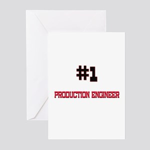 Number 1 PRODUCTION ENGINEER Greeting Cards (Pk of