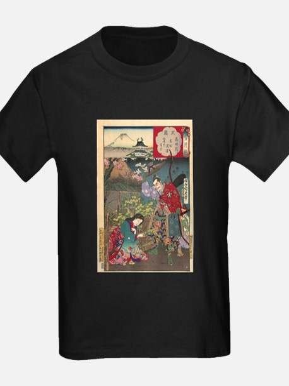 Japanese Beautiful Geisha Samurai Art T-Shirt