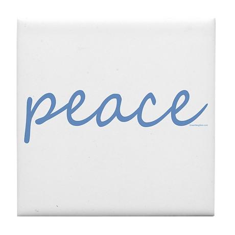 Simple Peace Tile Coaster