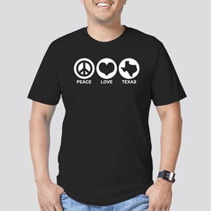 Peace Love Texas Men's Fitted T-Shirt (dark)