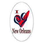 I Love New Orleans Oval Sticker