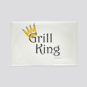 Grill King (yellow pepper crown) Rectangle Magnet