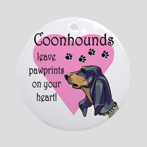 Coonhounds Pawprints Ornament (Round)