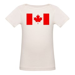 Candian Flag Organic Baby T-Shirt