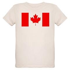 Candian Flag Organic Kids T-Shirt