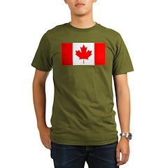 Candian Flag Organic Men's T-Shirt (dark)