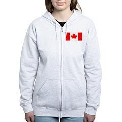 Candian Flag Women's Zip Hoodie