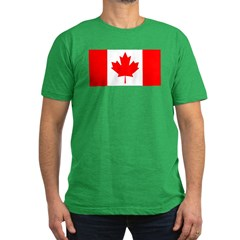 Candian Flag Men's Fitted T-Shirt (dark)