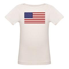 American Flag Organic Baby T-Shirt