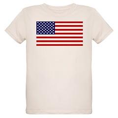 American Flag Organic Kids T-Shirt