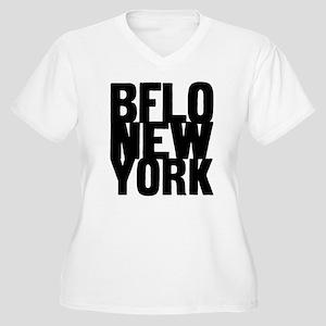 BFLO NEW YORK Women's Plus Size V-Neck T-Shirt