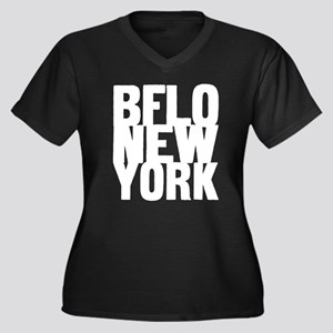 BFLO NEW YORK Women's Plus Size V-Neck Dark T-Shir