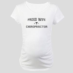 Proud Chiro Wife Maternity T-Shirt