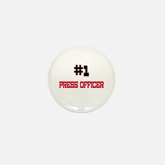 Number 1 PRESS OFFICER Mini Button