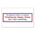 Totalitarian Nanny State Rectangle Sticker 50 pk)