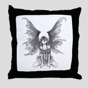 Gothic Fairy Throw Pillow