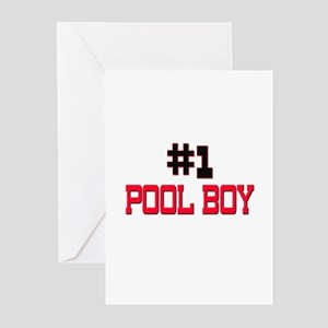 Number 1 POOL BOY Greeting Cards (Pk of 10)