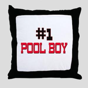 Number 1 POOL BOY Throw Pillow