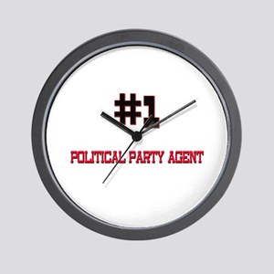 Number 1 POLITICAL PARTY AGENT Wall Clock
