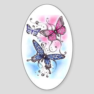Butterfly Dreams Oval Sticker