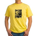 Abstract Yellow T-Shirt