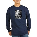Abstract Long Sleeve Dark T-Shirt