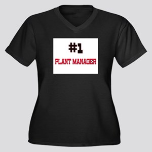 Number 1 PLANT MANAGER Women's Plus Size V-Neck Da