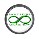 Save Lives, ask me how Wall Clock