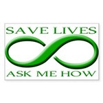 Save Lives, ask me how Rectangle Sticker 10 pk)